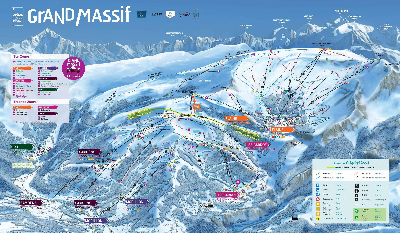 Sítérkép: Grand Massif - 265km