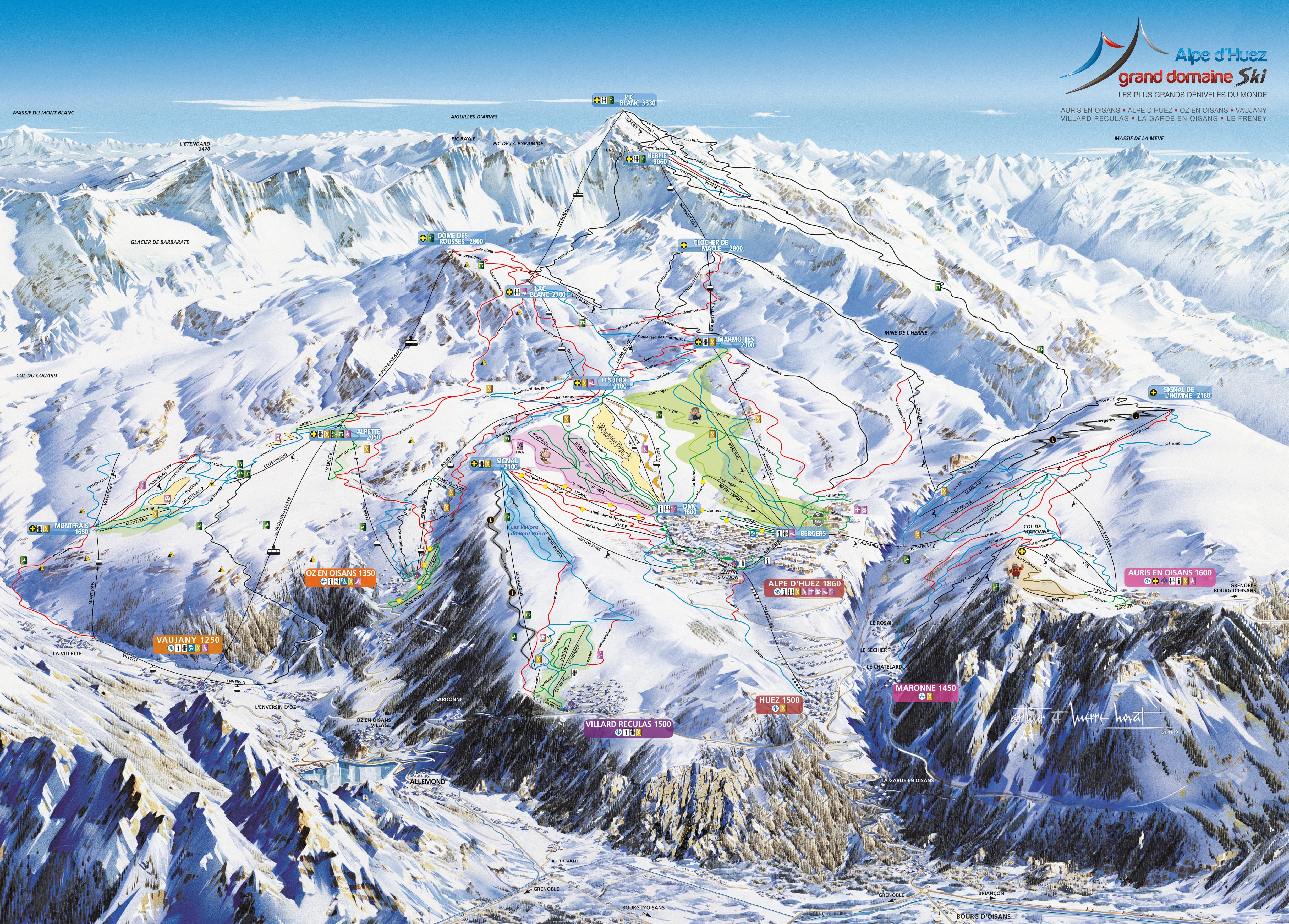 Sítérkép: Alpe d Huez - 250km
